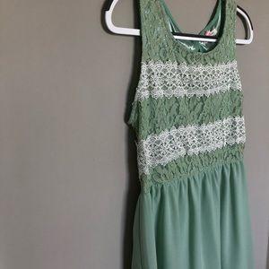 Dresses & Skirts - Light Green Lace Dress